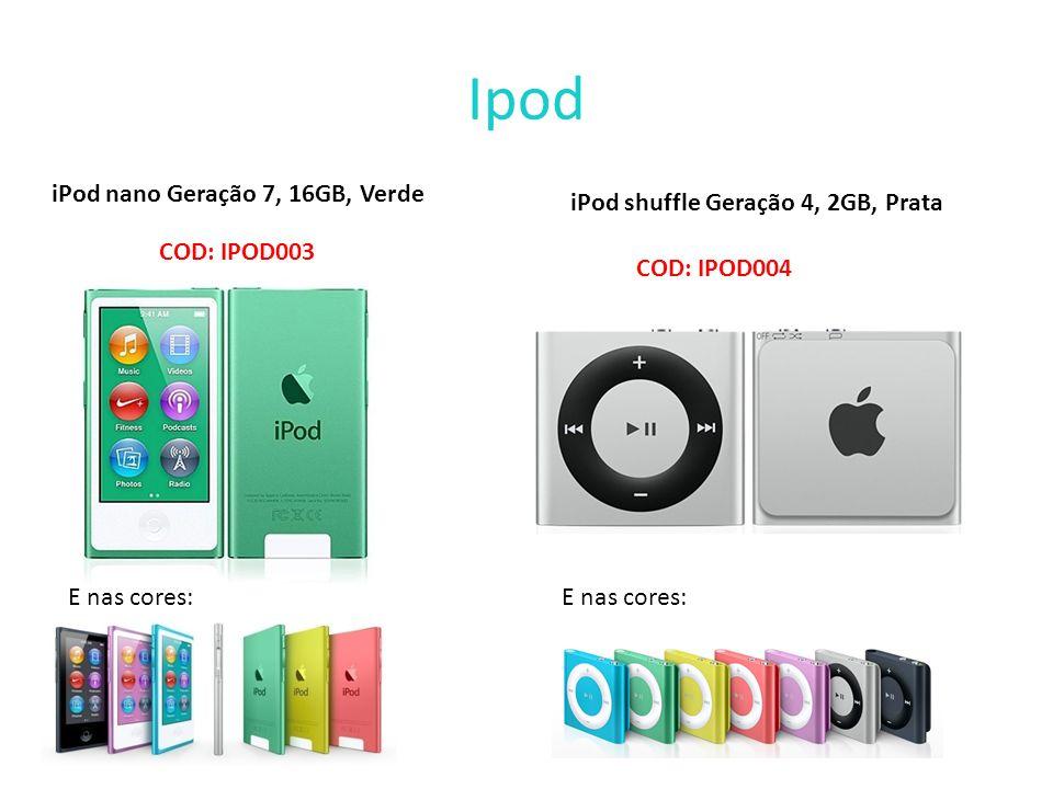 Ipod iPod nano Geração 7, 16GB, Verde