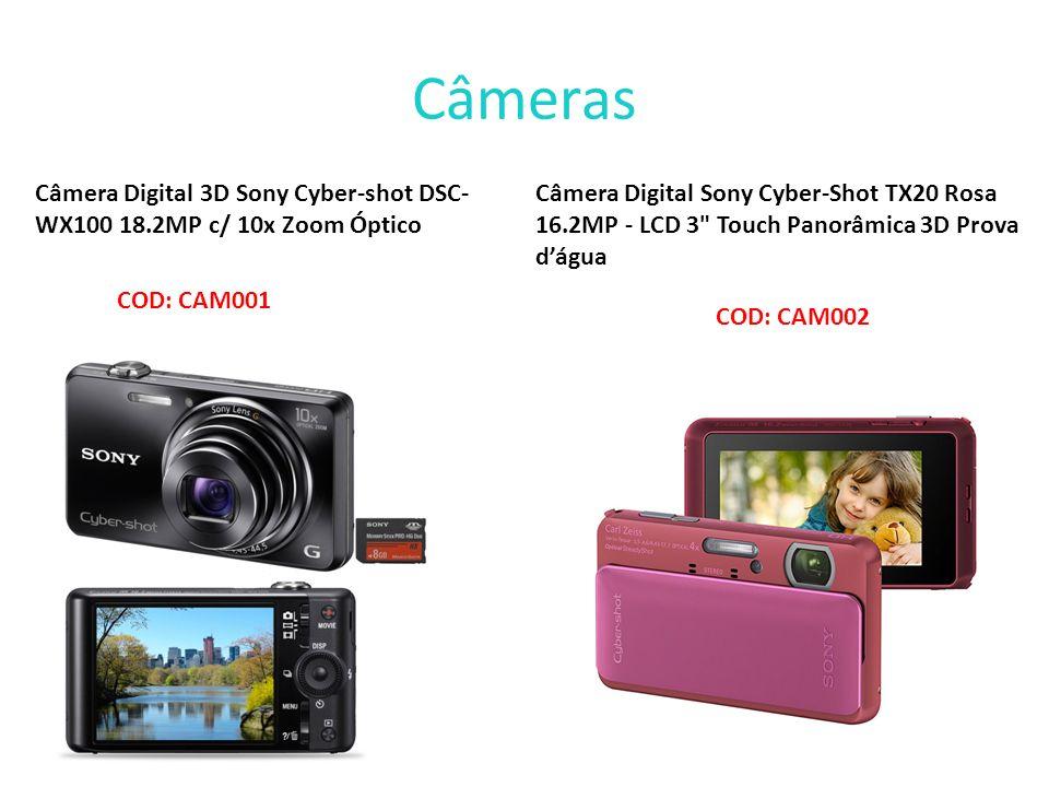 Câmeras Câmera Digital 3D Sony Cyber-shot DSC-WX100 18.2MP c/ 10x Zoom Óptico.