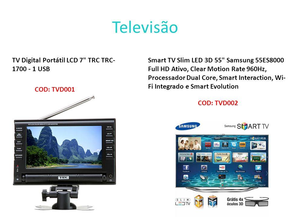 Televisão TV Digital Portátil LCD 7 TRC TRC-1700 - 1 USB