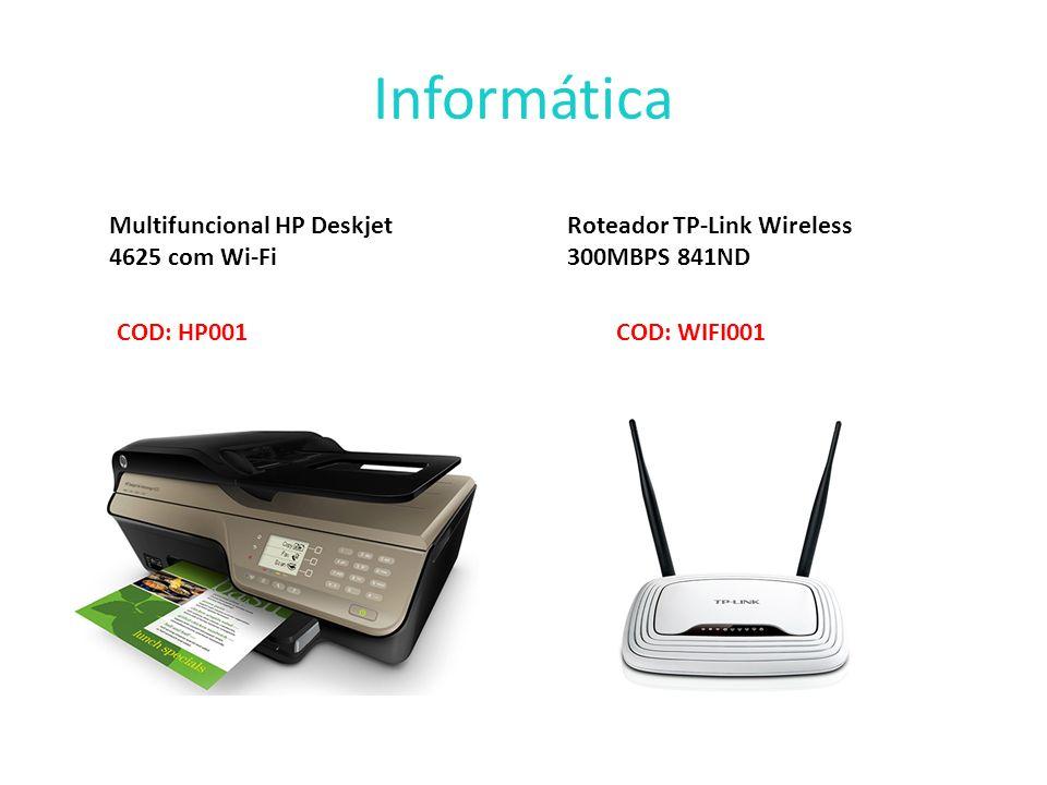 Informática Multifuncional HP Deskjet 4625 com Wi-Fi