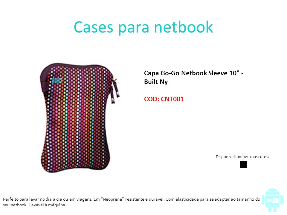 Cases para netbook Capa Go-Go Netbook Sleeve 10 - Built Ny