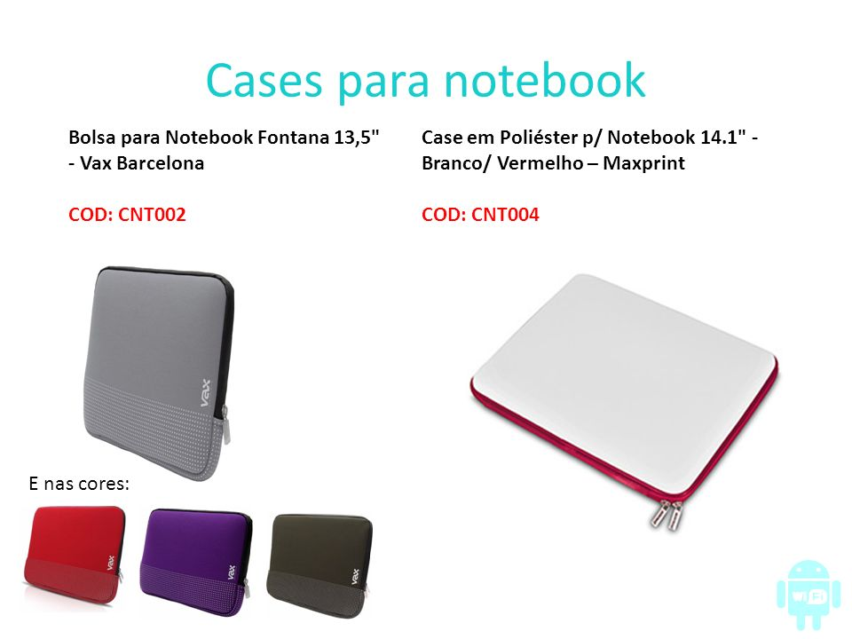 Cases para notebook Bolsa para Notebook Fontana 13,5 - Vax Barcelona