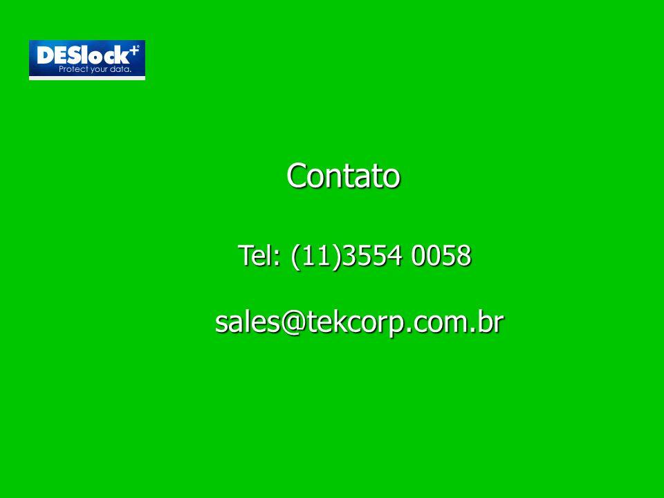 Contato Tel: (11)3554 0058 sales@tekcorp.com.br