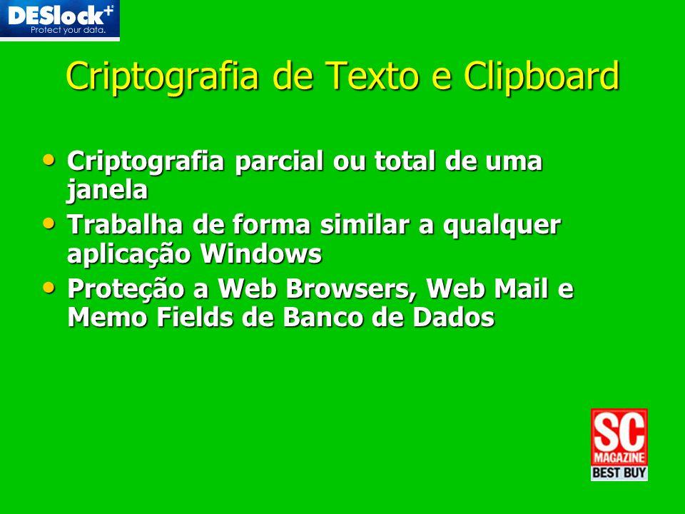 Criptografia de Texto e Clipboard