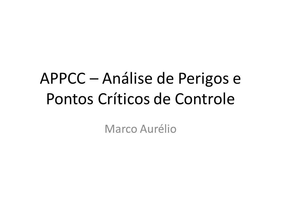 APPCC – Análise de Perigos e Pontos Críticos de Controle