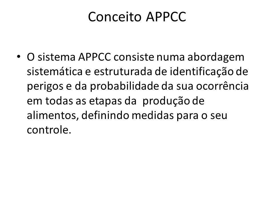 Conceito APPCC