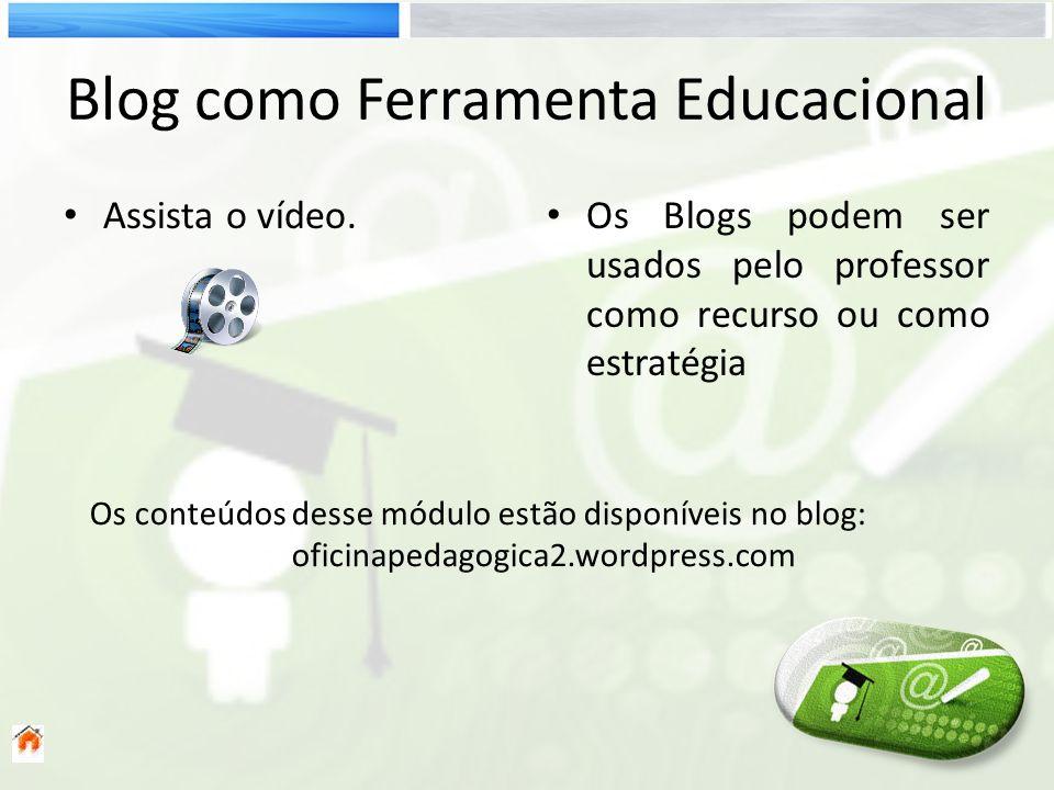 Blog como Ferramenta Educacional