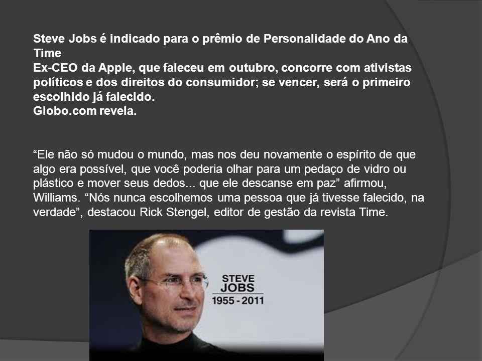 Steve Jobs é indicado para o prêmio de Personalidade do Ano da Time