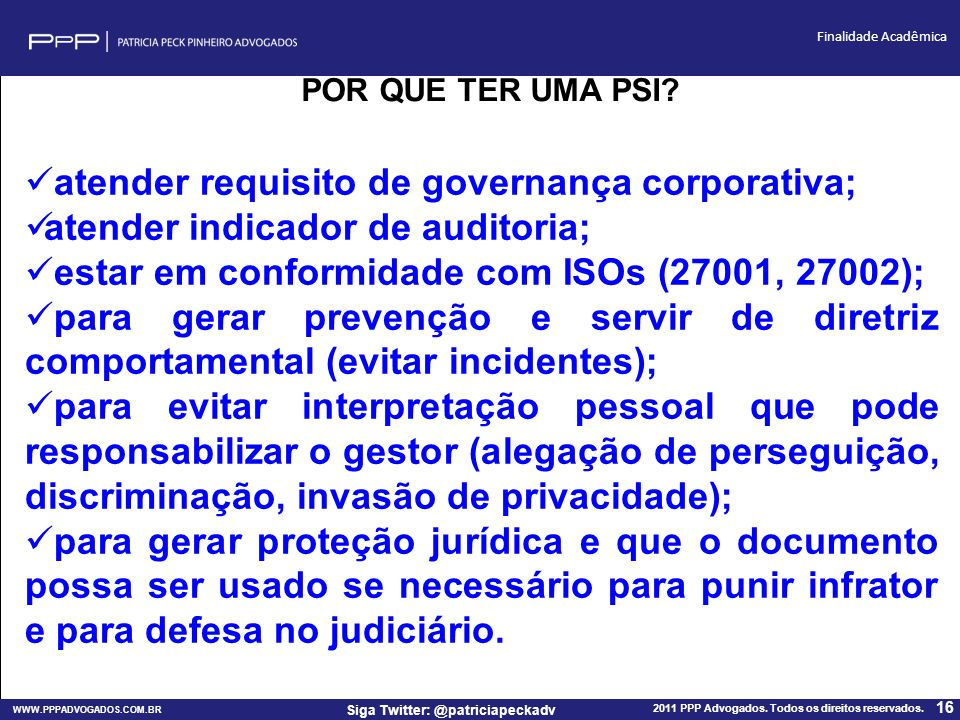 atender requisito de governança corporativa;