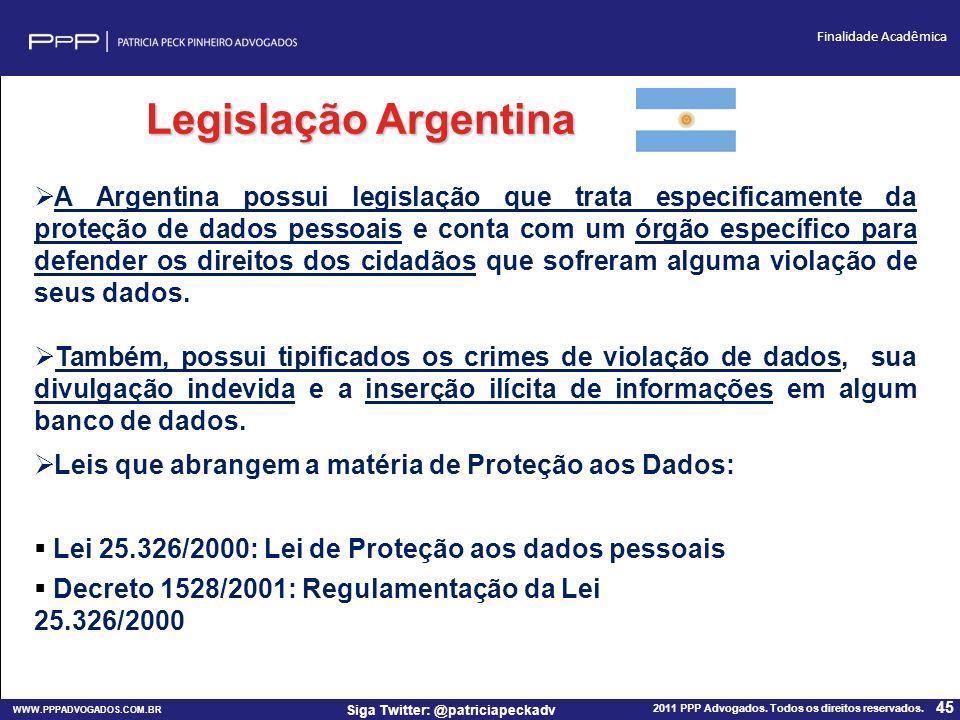 Legislação Argentina