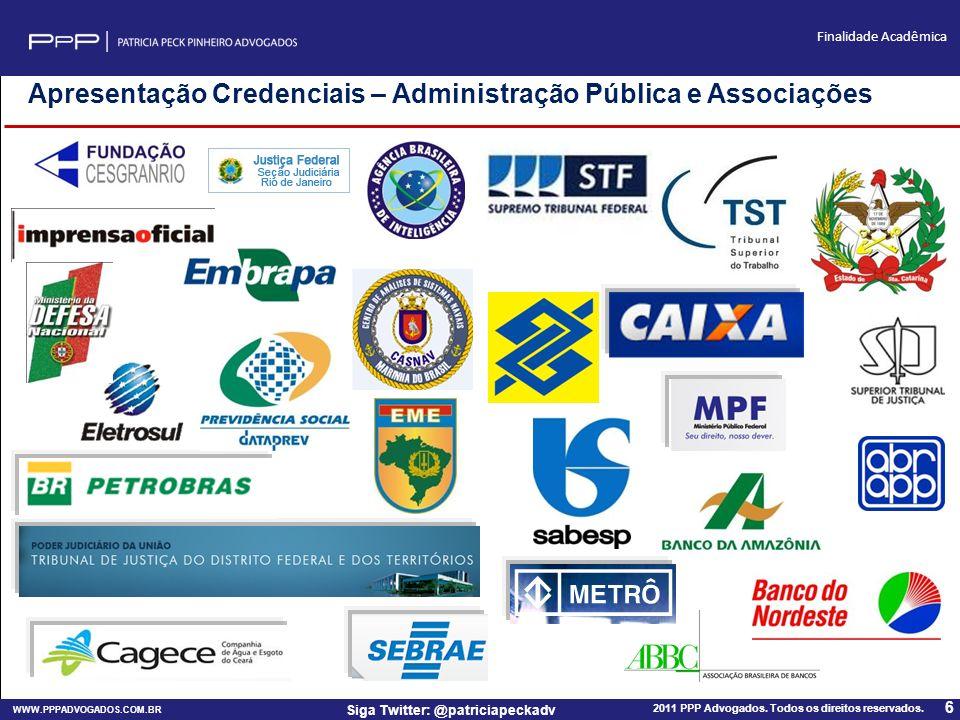 Apresentação Credenciais – Administração Pública e Associações