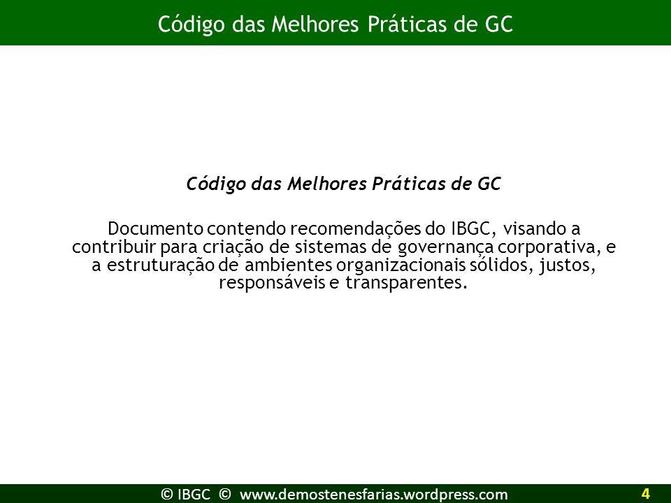 Código das Melhores Práticas de GC