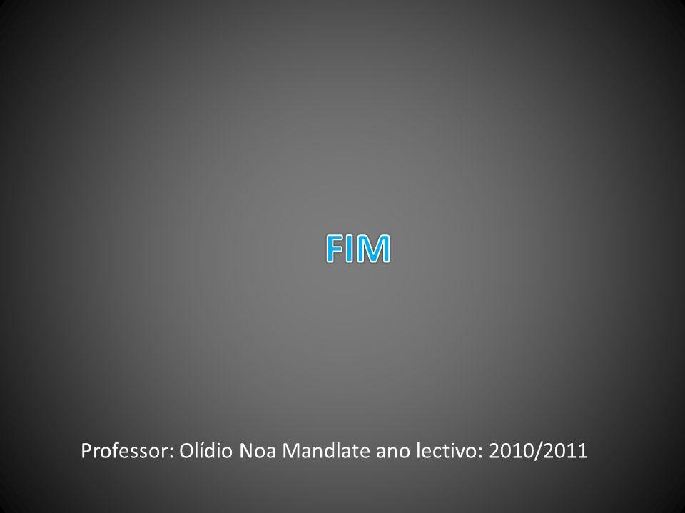 Professor: Olídio Noa Mandlate ano lectivo: 2010/2011