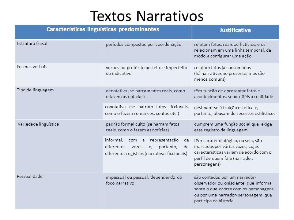 Características linguísticas predominantes