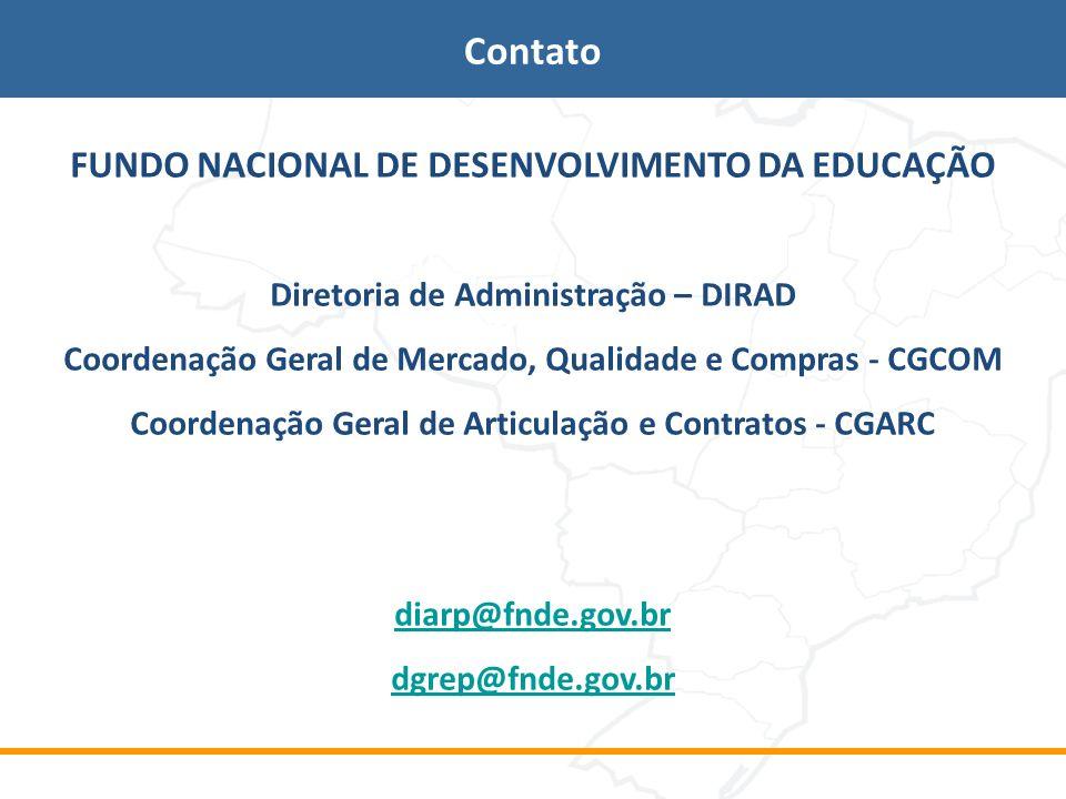 Contato FUNDO NACIONAL DE DESENVOLVIMENTO DA EDUCAÇÃO