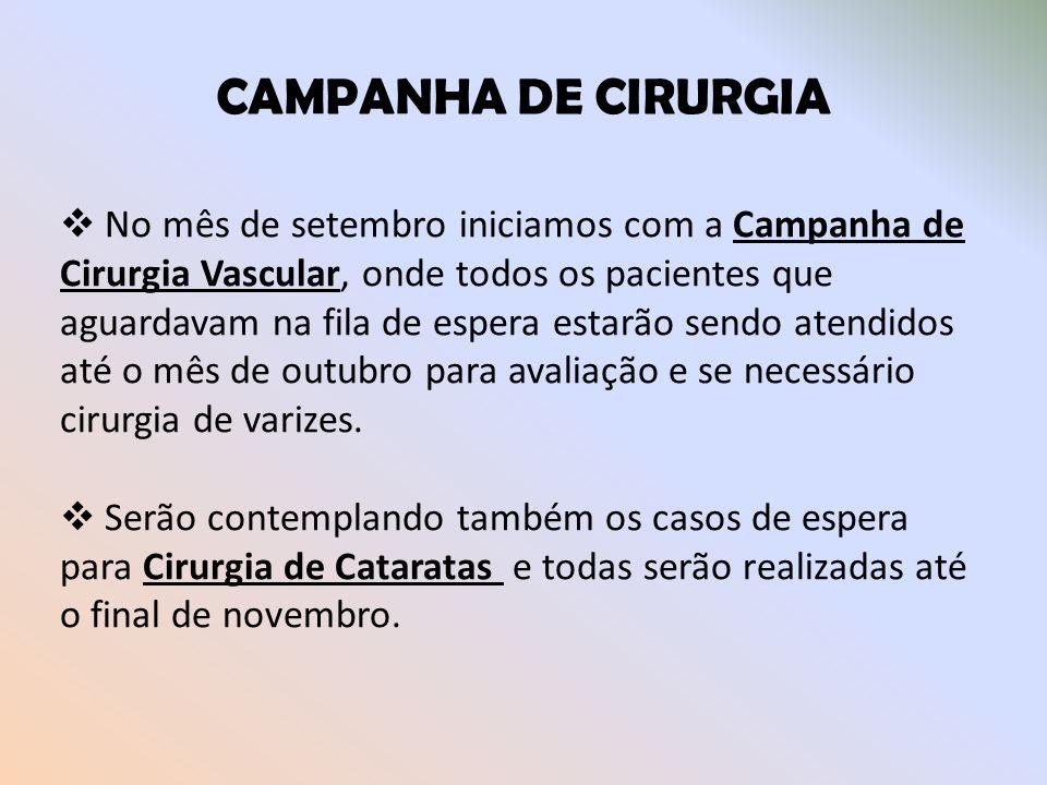 CAMPANHA DE CIRURGIA