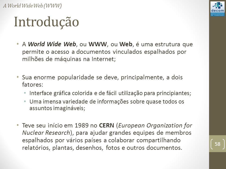 A World Wide Web (WWW) Introdução.