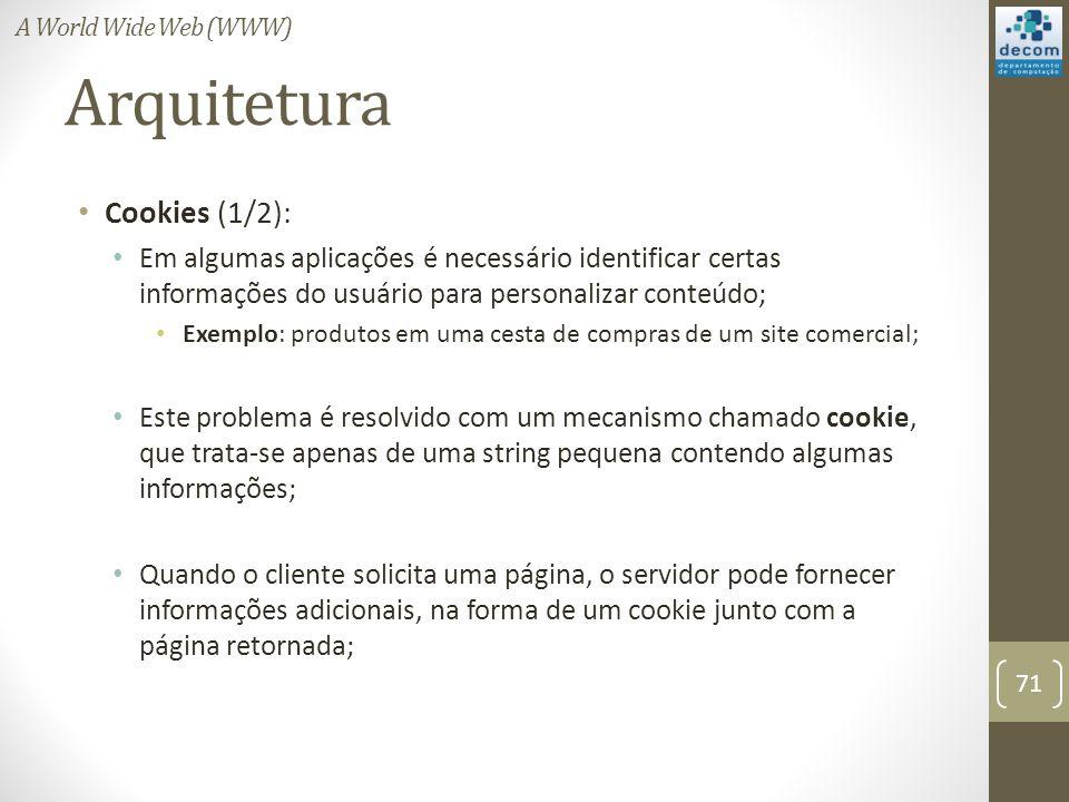 Arquitetura Cookies (1/2):