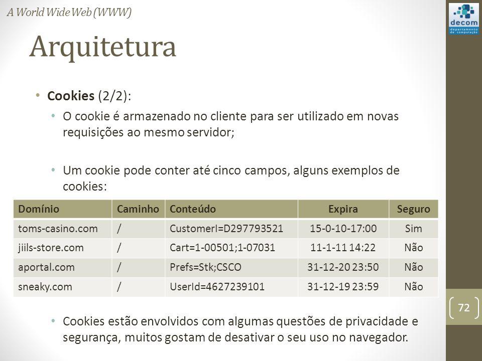 Arquitetura Cookies (2/2):