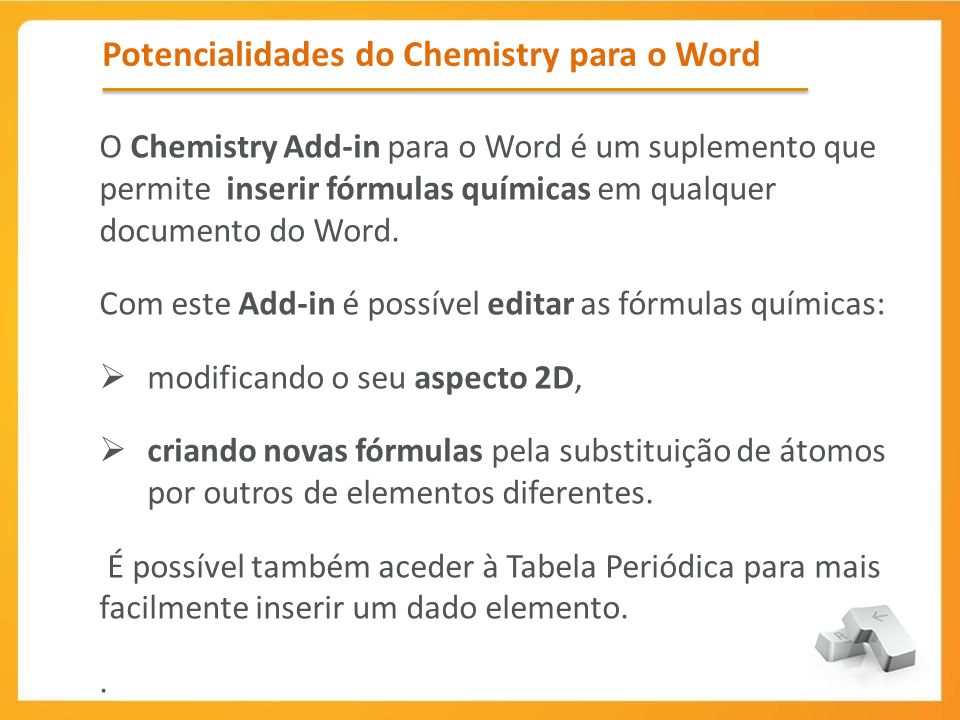Potencialidades do Chemistry para o Word