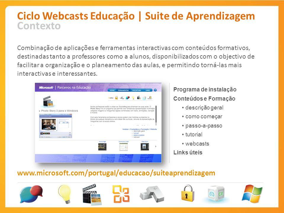 Ciclo Webcasts Educação | Suite de Aprendizagem Contexto
