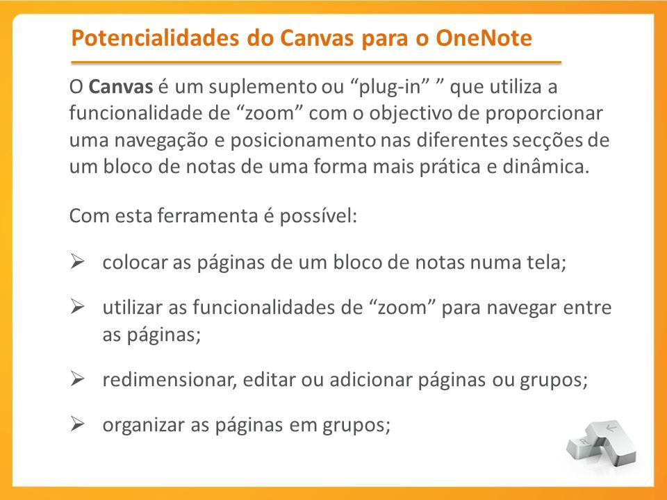 Potencialidades do Canvas para o OneNote