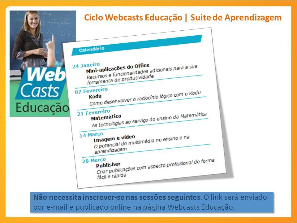 Ciclo Webcasts Educação | Suite de Aprendizagem