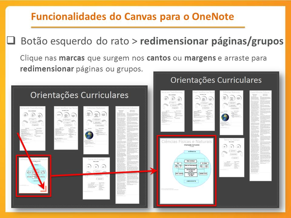Funcionalidades do Canvas para o OneNote