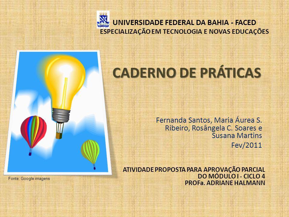 UNIVERSIDADE FEDERAL DA BAHIA - FACED ESPECIALIZAÇÃO EM TECNOLOGIA E NOVAS EDUCAÇÕES