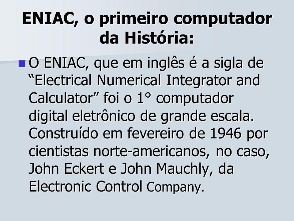 ENIAC, o primeiro computador da História: