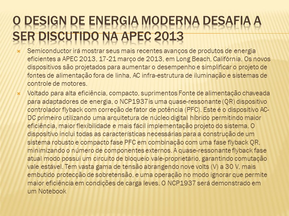 O design de energia moderna desafia a ser discutido na APEC 2013