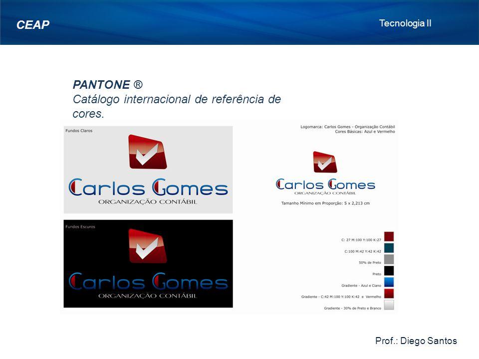 Catálogo internacional de referência de cores.