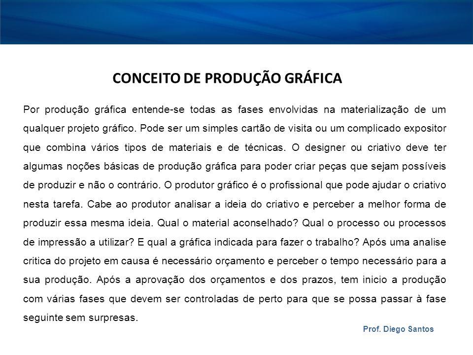 CONCEITO DE PRODUÇÃO GRÁFICA
