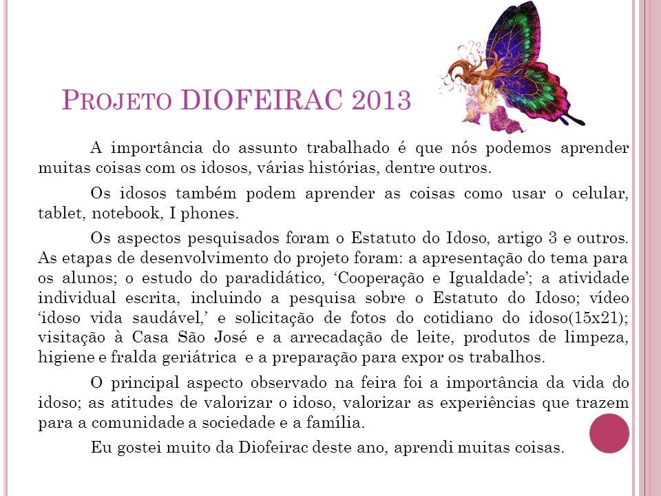 Projeto DIOFEIRAC 2013