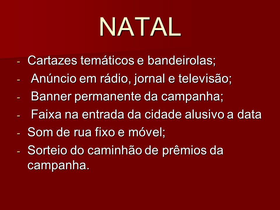 NATAL Cartazes temáticos e bandeirolas;