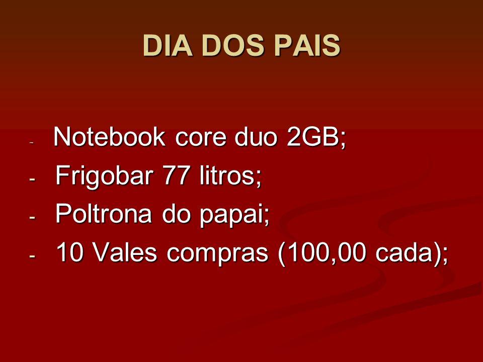 DIA DOS PAIS Frigobar 77 litros; Poltrona do papai;