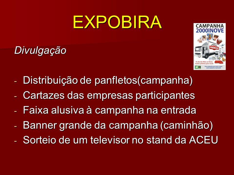 EXPOBIRA Divulgação Distribuição de panfletos(campanha)