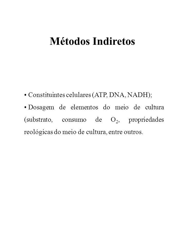Métodos Indiretos Constituintes celulares (ATP, DNA, NADH);