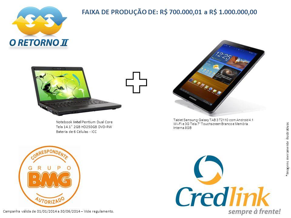 FAIXA DE PRODUÇÃO DE: R$ 700.000,01 a R$ 1.000.000,00