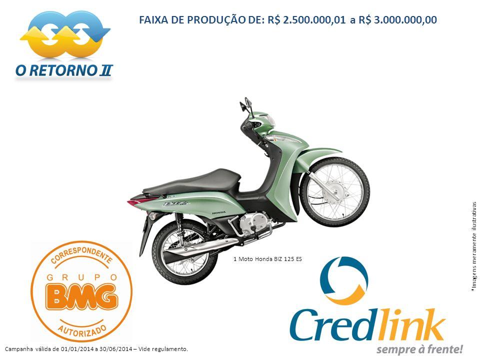 FAIXA DE PRODUÇÃO DE: R$ 2.500.000,01 a R$ 3.000.000,00