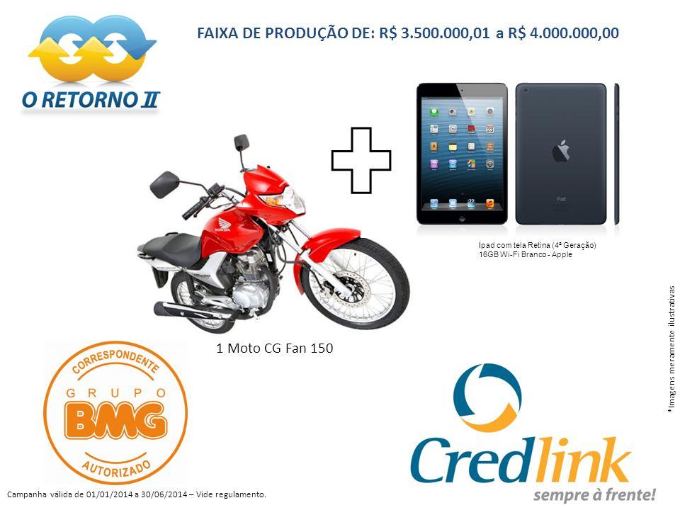 FAIXA DE PRODUÇÃO DE: R$ 3.500.000,01 a R$ 4.000.000,00