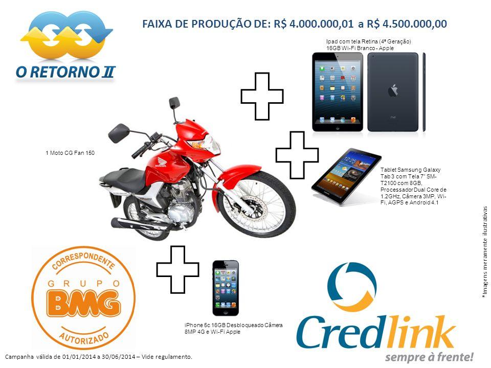 FAIXA DE PRODUÇÃO DE: R$ 4.000.000,01 a R$ 4.500.000,00