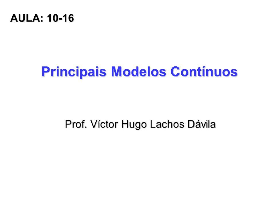 Principais Modelos Contínuos