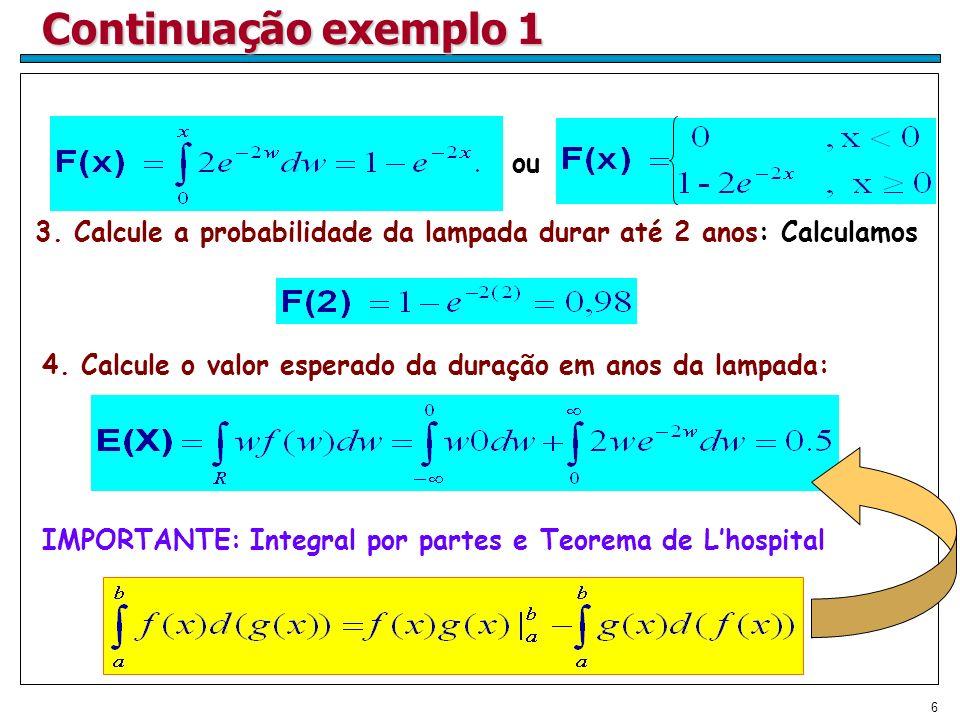 Continuação exemplo 1 ou