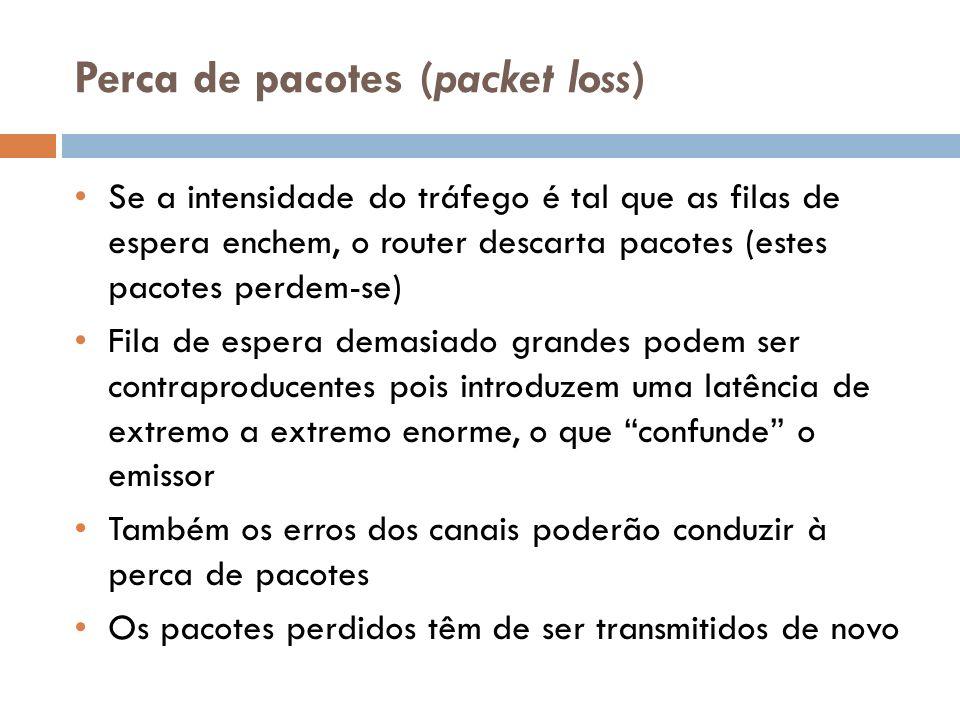 Perca de pacotes (packet loss)