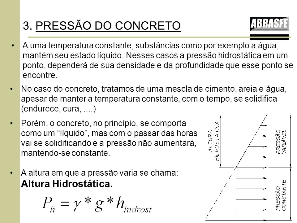 3. PRESSÃO DO CONCRETO