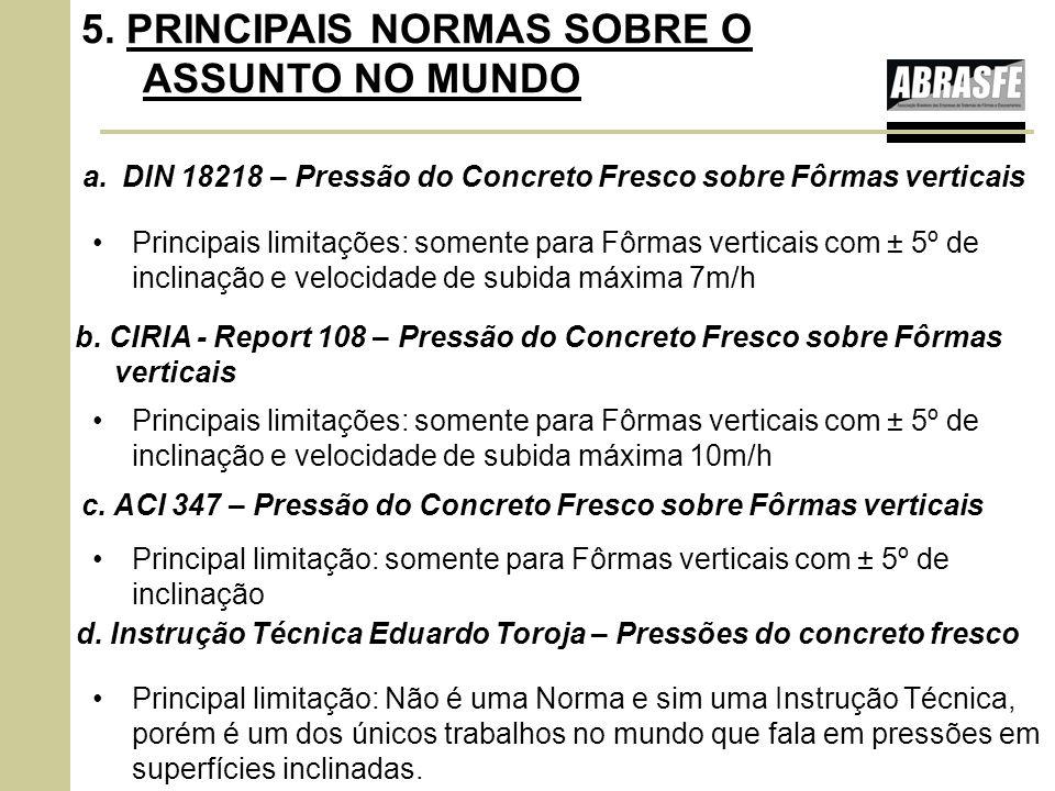 5. PRINCIPAIS NORMAS SOBRE O ASSUNTO NO MUNDO