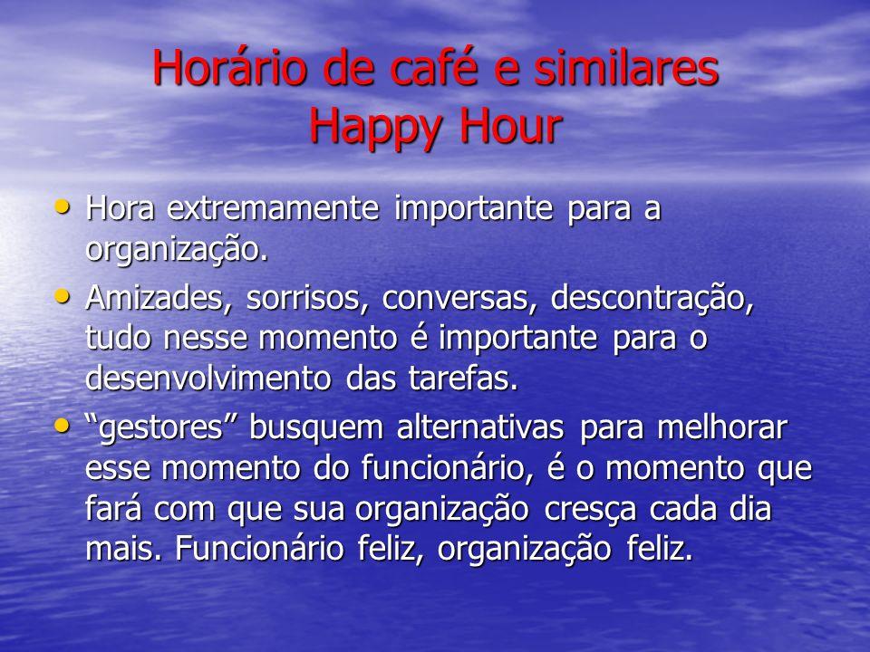Horário de café e similares Happy Hour