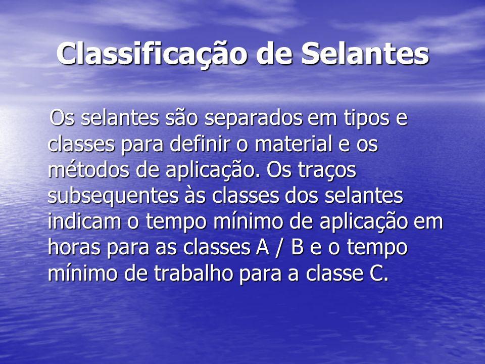 Classificação de Selantes