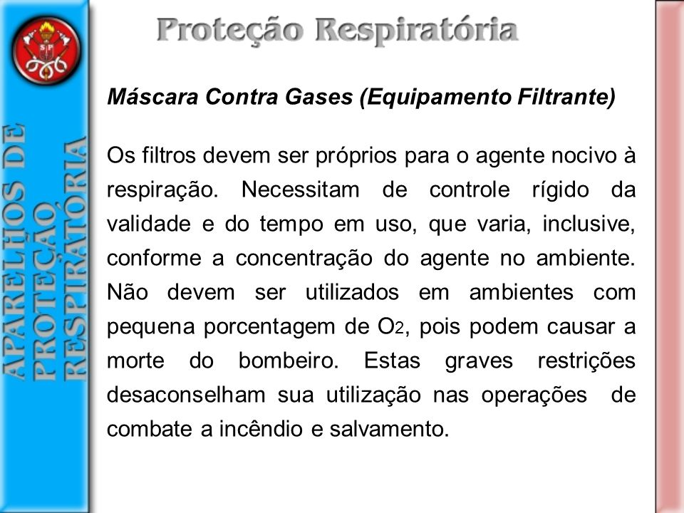 Máscara Contra Gases (Equipamento Filtrante)